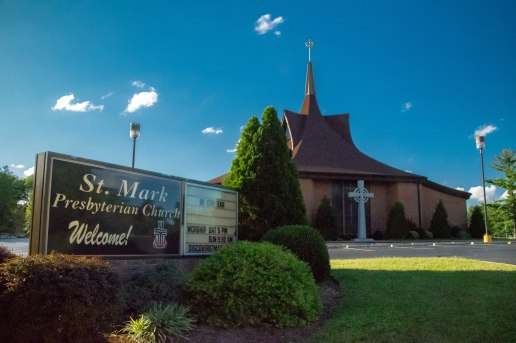 St. Mark's Presbyterian Church is not only right along Claymont Drive, but it's also our local preschool.