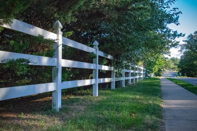 This fence lines part of Country Club Drive near the entrance on Clayton Road.